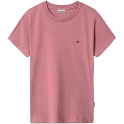 Υφασμάτινα Γυναίκα T-shirt με κοντά μανίκια Napapijri NP0A4FAC Ροζ