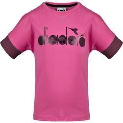 Υφασμάτινα Παιδί T-shirt με κοντά μανίκια Diadora 102175914 Ροζ