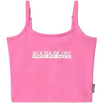 Υφασμάτινα Γυναίκα Αμάνικα / T-shirts χωρίς μανίκια Napapijri NP0A4FHI Ροζ