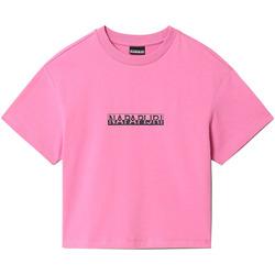 Υφασμάτινα Γυναίκα T-shirt με κοντά μανίκια Napapijri NP0A4FHG Ροζ