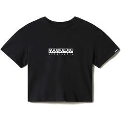 Υφασμάτινα Γυναίκα T-shirt με κοντά μανίκια Napapijri NP0A4EYZ Μαύρος