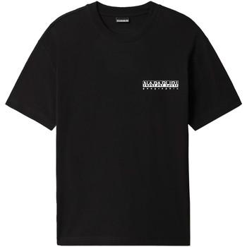 Υφασμάτινα Άνδρας T-shirt με κοντά μανίκια Napapijri NP0A4F4R Μαύρος