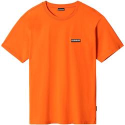 Υφασμάτινα T-shirt με κοντά μανίκια Napapijri NP0A4FG8 Πορτοκάλι