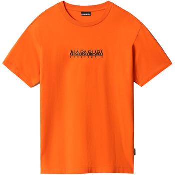 Υφασμάτινα Γυναίκα T-shirt με κοντά μανίκια Napapijri NP0A4FF5 Πορτοκάλι
