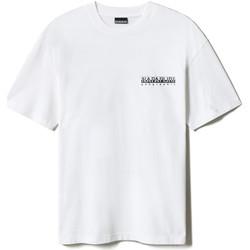 Υφασμάτινα T-shirt με κοντά μανίκια Napapijri NP0A4F4R λευκό