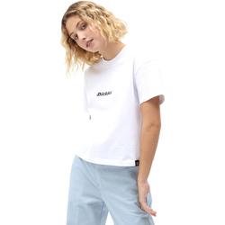 Υφασμάτινα Γυναίκα T-shirt με κοντά μανίκια Dickies DK0A4XBAWHX1 λευκό
