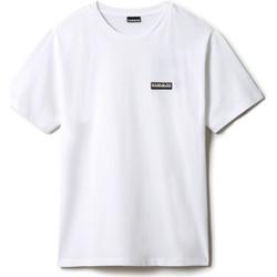 Υφασμάτινα T-shirt με κοντά μανίκια Napapijri NP0A4FG8 λευκό
