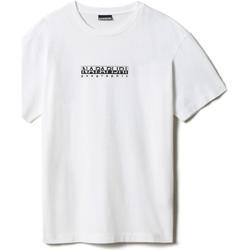 Υφασμάτινα T-shirt με κοντά μανίκια Napapijri NP0A4FF5 λευκό