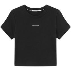 Υφασμάτινα Γυναίκα T-shirt με κοντά μανίκια Calvin Klein Jeans J20J215699 Μαύρος