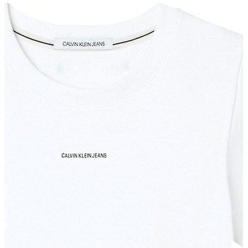 Υφασμάτινα Γυναίκα T-shirt με κοντά μανίκια Calvin Klein Jeans J20J215699 λευκό