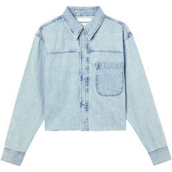 Υφασμάτινα Γυναίκα Τζιν Μπουφάν/Jacket  Calvin Klein Jeans J20J215908 Μπλε
