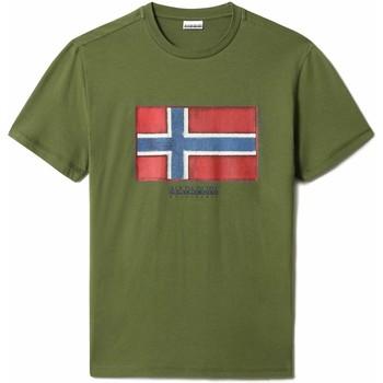 Υφασμάτινα Άνδρας T-shirt με κοντά μανίκια Napapijri NP0A4F9R Πράσινος