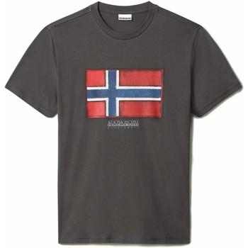 Υφασμάτινα Άνδρας T-shirt με κοντά μανίκια Napapijri NP0A4F9R Γκρί