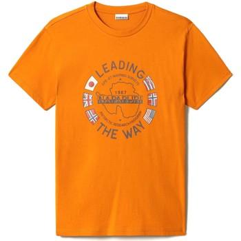 Υφασμάτινα Άνδρας T-shirt με κοντά μανίκια Napapijri NP0A4F6P Πορτοκάλι