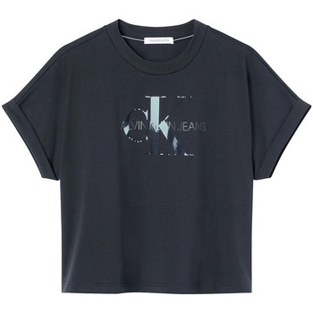 Υφασμάτινα Γυναίκα T-shirt με κοντά μανίκια Calvin Klein Jeans J20J216347 Μαύρος