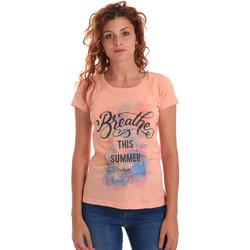 Υφασμάτινα Γυναίκα T-shirt με κοντά μανίκια Key Up 5D59S 0001 Πορτοκάλι