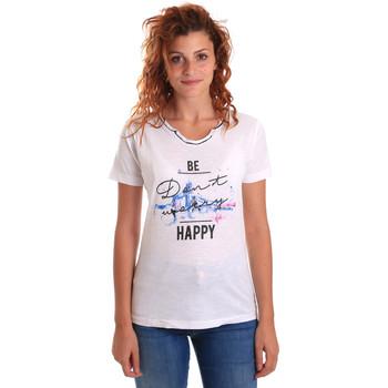 Υφασμάτινα Γυναίκα T-shirt με κοντά μανίκια Key Up 5G63S 0001 λευκό