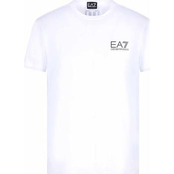 Υφασμάτινα Άνδρας T-shirt με κοντά μανίκια Ea7 Emporio Armani 3KPT06 PJ03Z λευκό