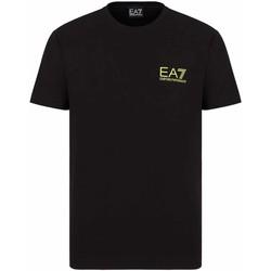 Υφασμάτινα Άνδρας T-shirt με κοντά μανίκια Ea7 Emporio Armani 3KPT06 PJ03Z Μαύρος