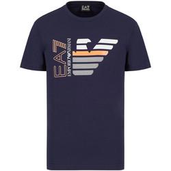 Υφασμάτινα Άνδρας T-shirt με κοντά μανίκια Ea7 Emporio Armani 3KPT22 PJ6EZ Μπλε