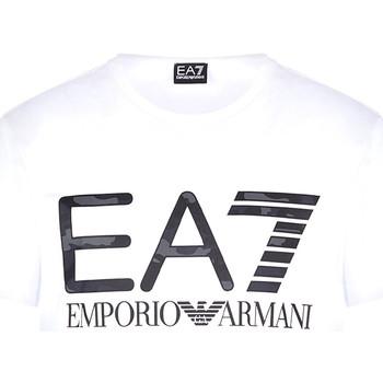 Υφασμάτινα Άνδρας T-shirt με κοντά μανίκια Ea7 Emporio Armani 3KPT27 PJ7CZ λευκό