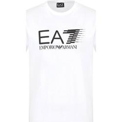 Υφασμάτινα Άνδρας T-shirt με κοντά μανίκια Ea7 Emporio Armani 3KPT39 PJ02Z λευκό