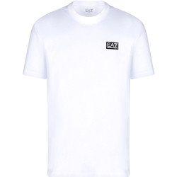 Υφασμάτινα Άνδρας T-shirt με κοντά μανίκια Ea7 Emporio Armani 3KPT63 PJ6EZ λευκό