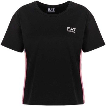 Υφασμάτινα Γυναίκα T-shirt με κοντά μανίκια Ea7 Emporio Armani 3KTT21 TJ29Z Μαύρος