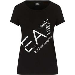 Υφασμάτινα Γυναίκα T-shirt με κοντά μανίκια Ea7 Emporio Armani 3KTT28 TJ12Z Μαύρος