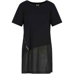 Υφασμάτινα Γυναίκα T-shirt με κοντά μανίκια Ea7 Emporio Armani 3KTT36 TJ4PZ Μαύρος