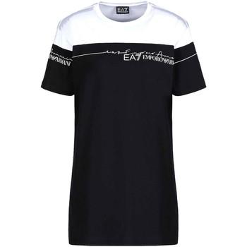 Υφασμάτινα Γυναίκα T-shirt με κοντά μανίκια Ea7 Emporio Armani 3KTT59 TJBEZ Μαύρος
