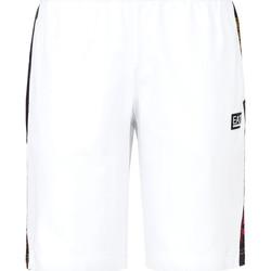 Υφασμάτινα Άνδρας Μαγιώ / shorts για την παραλία Ea7 Emporio Armani 3KPS81 PJ05Z λευκό