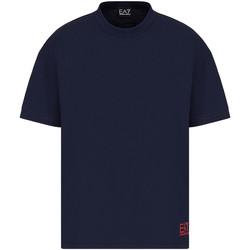 Υφασμάτινα Άνδρας T-shirt με κοντά μανίκια Ea7 Emporio Armani 3KPT58 PJ02Z Μπλε