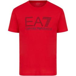 Υφασμάτινα Άνδρας T-shirt με κοντά μανίκια Ea7 Emporio Armani 3KPT81 PJM9Z το κόκκινο