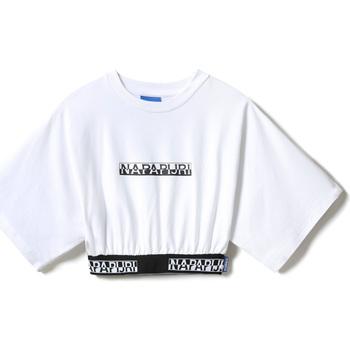 Υφασμάτινα Γυναίκα T-shirt με κοντά μανίκια Napapijri NP0A4FCO λευκό