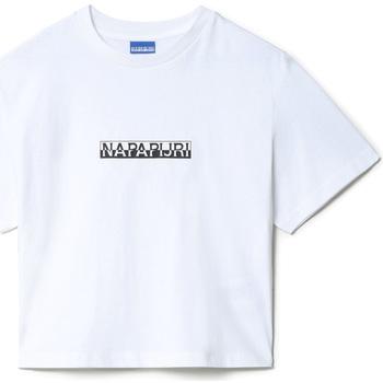 Υφασμάτινα Γυναίκα T-shirt με κοντά μανίκια Napapijri NP0A4EYZ λευκό