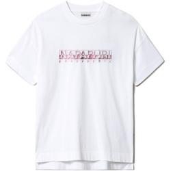 Υφασμάτινα Γυναίκα T-shirt με κοντά μανίκια Napapijri NP0A4FAF λευκό