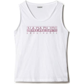 Υφασμάτινα Γυναίκα Αμάνικα / T-shirts χωρίς μανίκια Napapijri NP0A4FAG λευκό