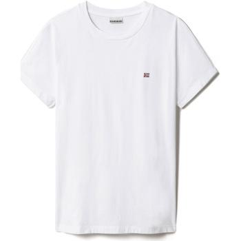 Υφασμάτινα Γυναίκα T-shirt με κοντά μανίκια Napapijri NP0A4FAC λευκό