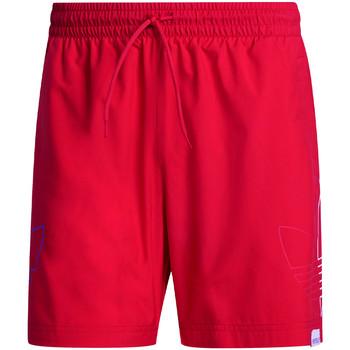 Υφασμάτινα Άνδρας Μαγιώ / shorts για την παραλία adidas Originals GN3549 το κόκκινο