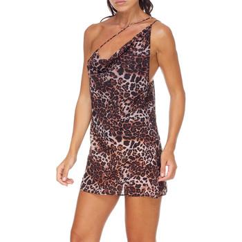 Υφασμάτινα Γυναίκα Κοντά Φορέματα Me Fui M20-0456X1 καφέ
