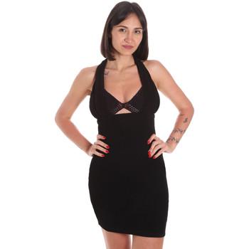 Υφασμάτινα Γυναίκα Κοντά Φορέματα Me Fui M20-0354NR Μαύρος