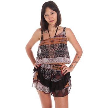 Υφασμάτινα Γυναίκα Ολόσωμες φόρμες / σαλοπέτες Me Fui M20-0060X1 καφέ