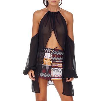 Υφασμάτινα Γυναίκα Μπλούζες Me Fui M20-0053NR Μαύρος