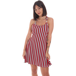 Υφασμάτινα Γυναίκα Κοντά Φορέματα Me Fui M20-0364U το κόκκινο