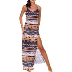 Υφασμάτινα Γυναίκα Μακριά Φορέματα Me Fui M20-0080X1 καφέ