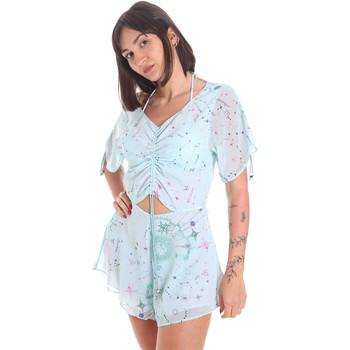 Υφασμάτινα Γυναίκα Ολόσωμες φόρμες / σαλοπέτες Me Fui M20-1058X1 Μπλε
