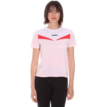Υφασμάτινα Γυναίκα T-shirt με κοντά μανίκια Diadora 102175659 Ροζ