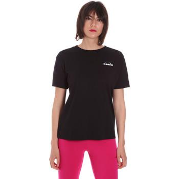 Υφασμάτινα Γυναίκα T-shirt με κοντά μανίκια Diadora 102175873 Μαύρος