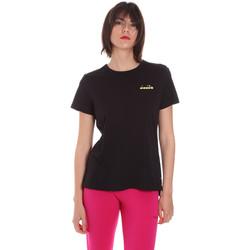Υφασμάτινα Γυναίκα T-shirt με κοντά μανίκια Diadora 102175882 Μαύρος